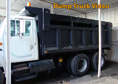 Dump truck sprayed with GatorHyde DLX