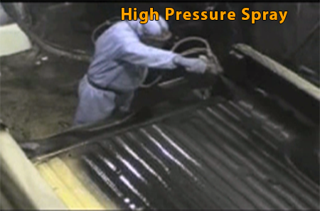 Polyurea high-pressure spray application
