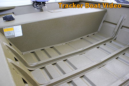 Tracker boat interior with GatorHyde polyurea spray