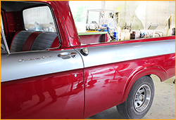 1962 Ford F150 Pickup red and silver